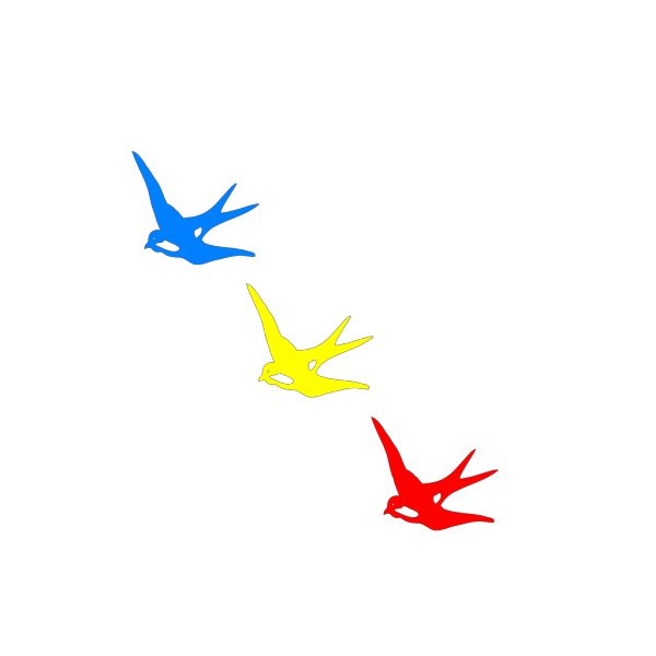 Colored Swallows PNG Clip art