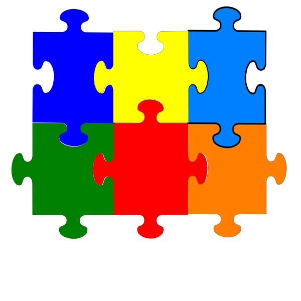 Jigsaw Puzzle 6 Pieces PNG clipart