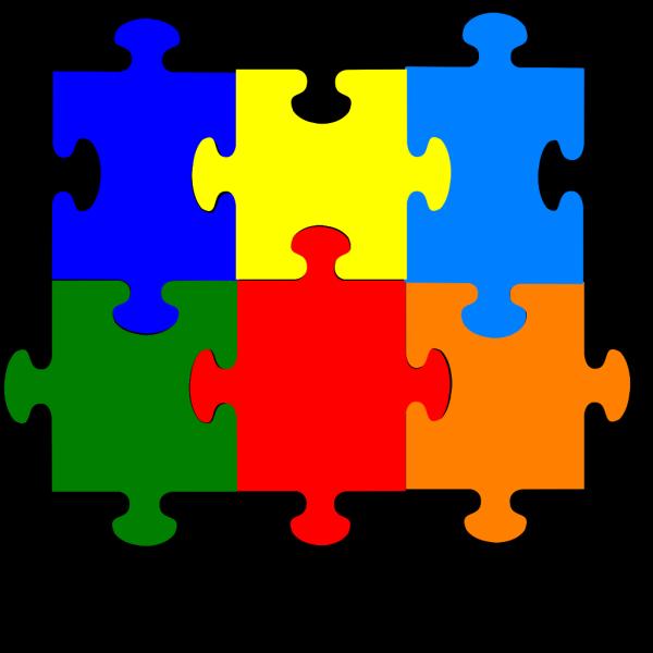 Jigsaw Puzzle 6 Pieces PNG Clip art