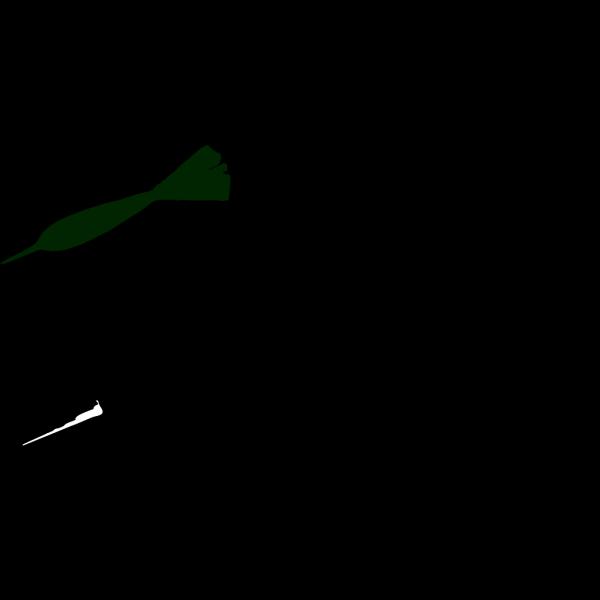 Green Dart  PNG Clip art