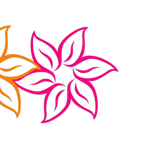 Shaded Rainbow Flower  PNG Clip art