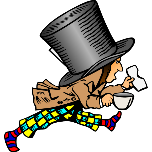 Running Mad Hatter In Color PNG images