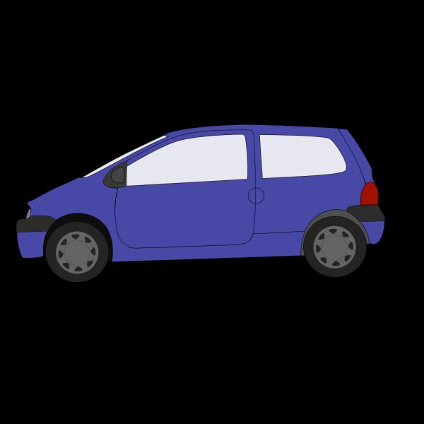 Blue Small Car PNG Clip art