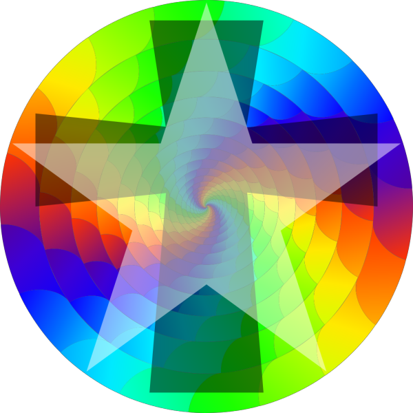 Colorwheel With Star PNG Clip art