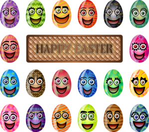 Colorful Easter Eggs PNG Clip art
