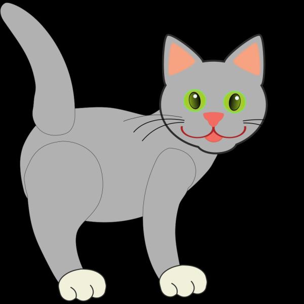 Black And Gray Cat PNG Clip art