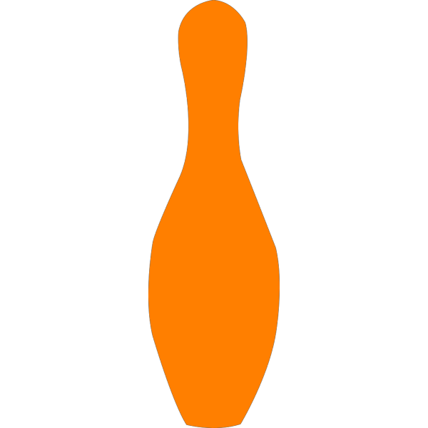 Orange Bowling Pin PNG Clip art