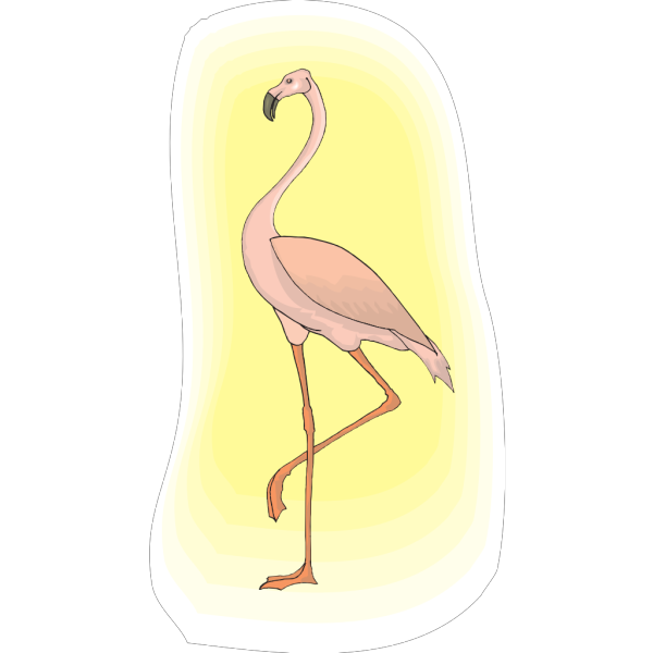 Flamingo With Light PNG Clip art