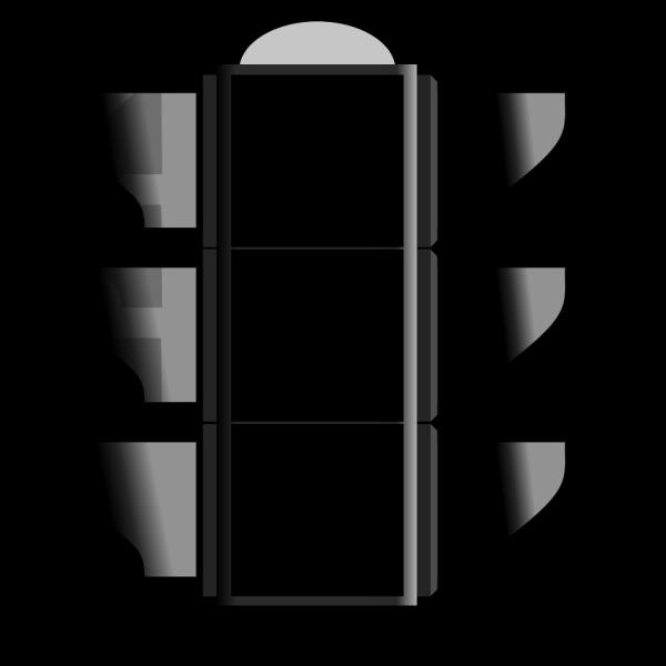 All Black Stoplight PNG Clip art