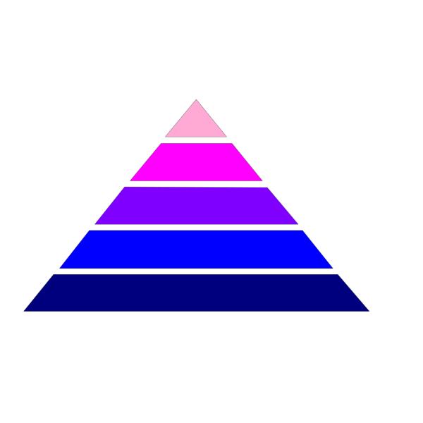 Pyramid With Colors PNG Clip art