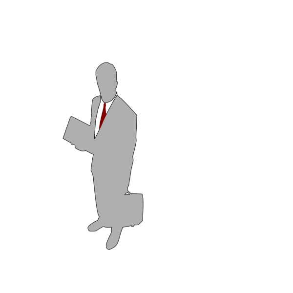 Grey Businessman PNG Clip art