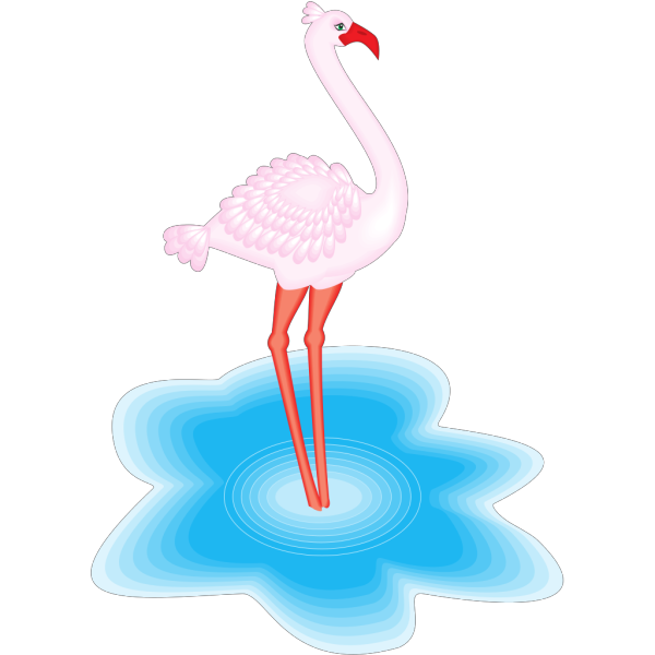 Feathered Flamingo PNG Clip art