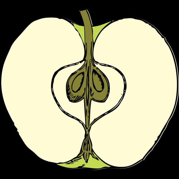 Green Cartoon Apple PNG Clip art