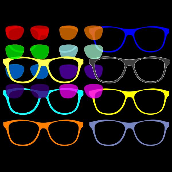 Colorful Sunglasses PNG Clip art