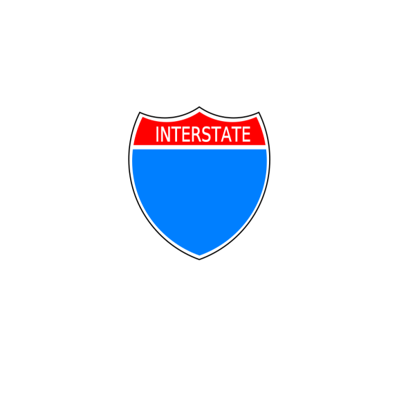 Purple Interstate Sign PNG Clip art