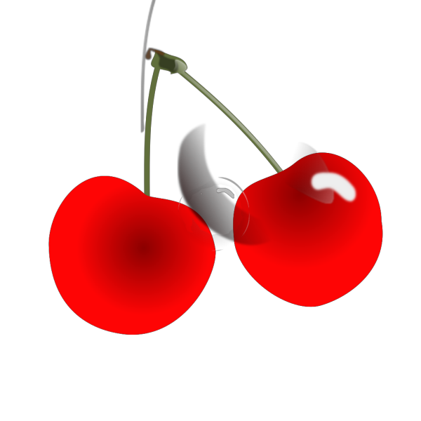 Two Red Cherries PNG Clip art