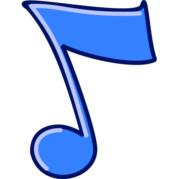 Blue Musical Note PNG Clip art