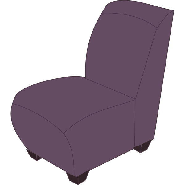 Purple Armless Chair PNG Clip art
