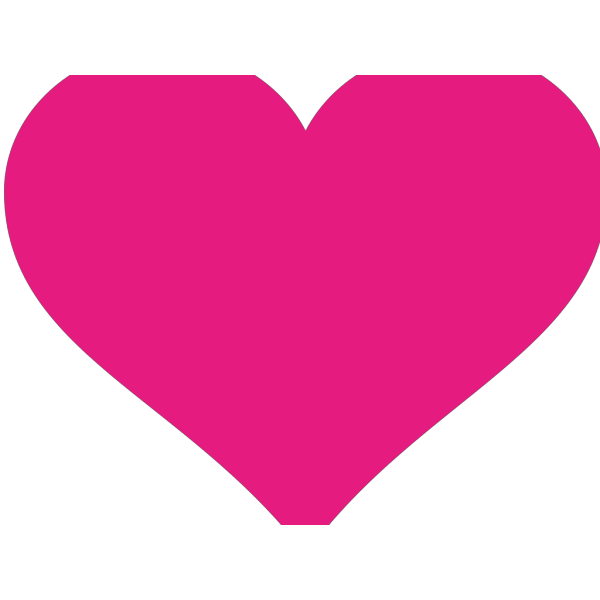 Pink Heart Symbols With Colorful Flying Stars PNG Clip art