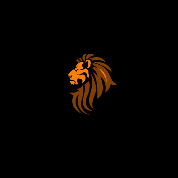 Lion Head Color PNG Clip art