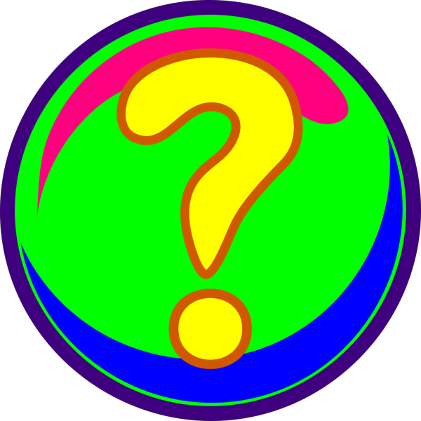 Question Mark Colors PNG Clip art