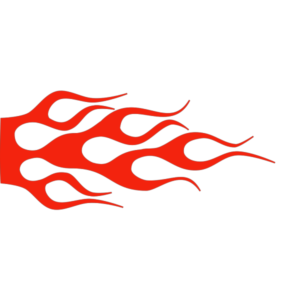 Racing Flame - Solid Color PNG Clip art