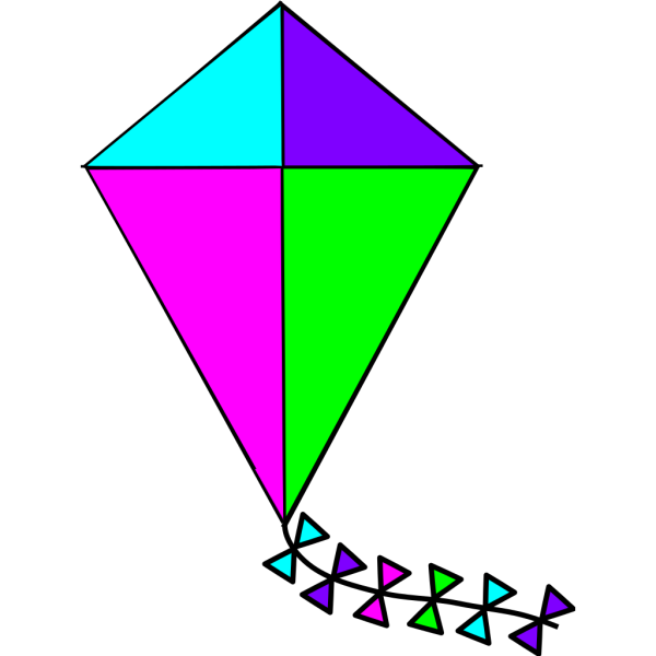 Bright Colors Kite PNG Clip art