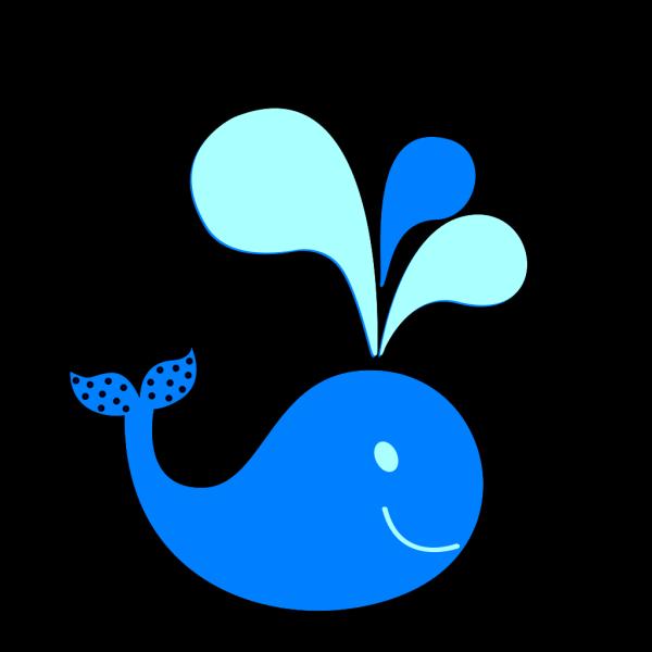 Polka Dot Whale PNG Clip art