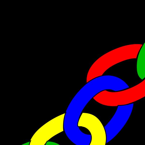 Color Chain Links - Long PNG Clip art