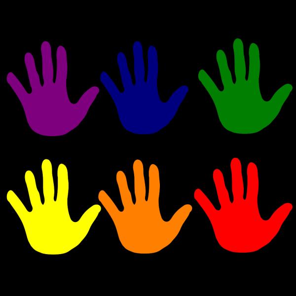 Hands - Various Colors Logo PNG Clip art