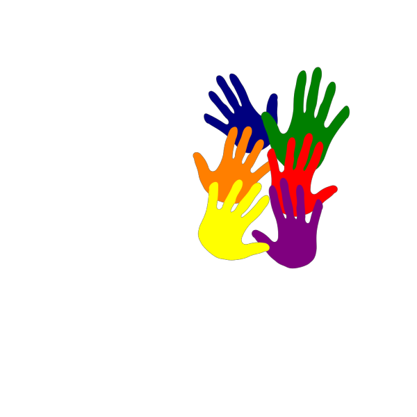 Hands - Various Colors Overlapping PNG Clip art