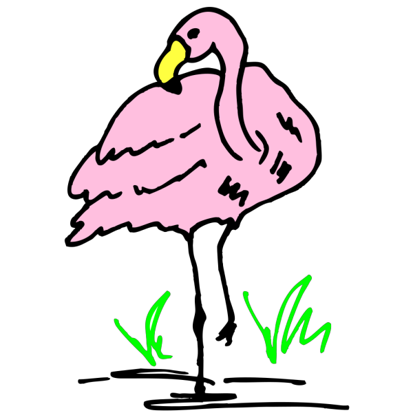 Flamingo Cartoon Art PNG Clip art