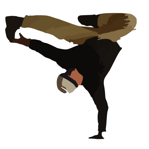 Break Dance Colored PNG Clip art