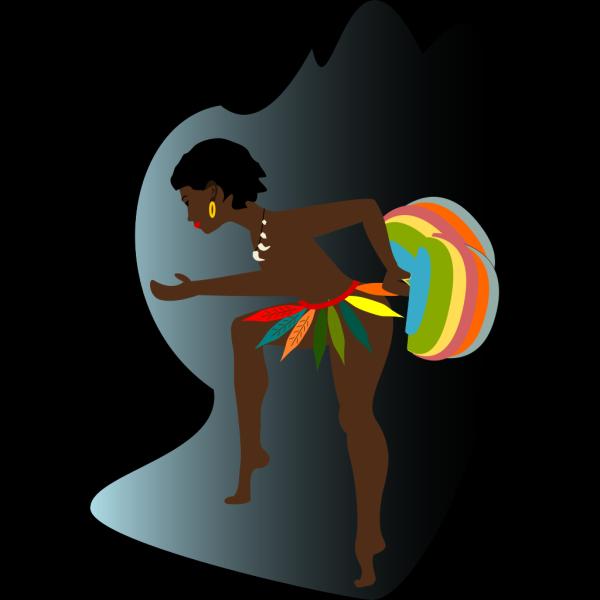 African Dancer PNG Clip art