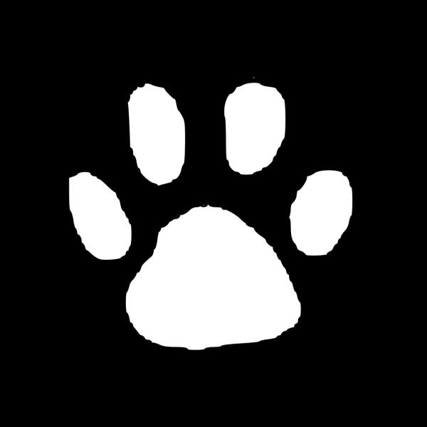 Tiger Paw Print Outline PNG Clip art