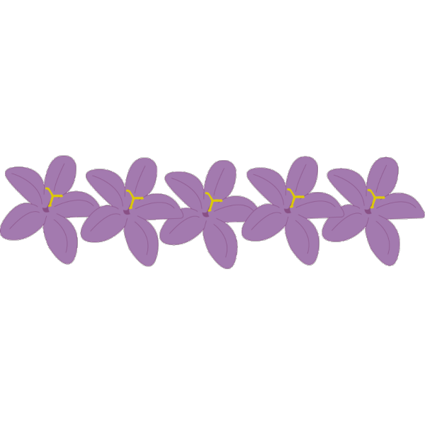 Purple Flowers PNG Clip art
