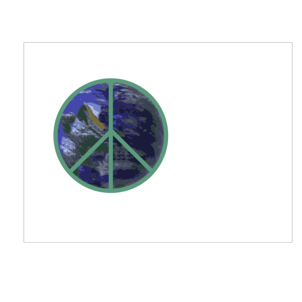 Peace With Earth PNG Clip art