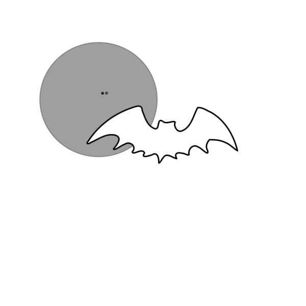 Bat And Moon Blank PNG Clip art