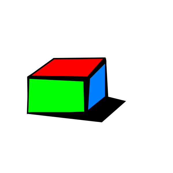 Colored Box With Shadow PNG Clip art