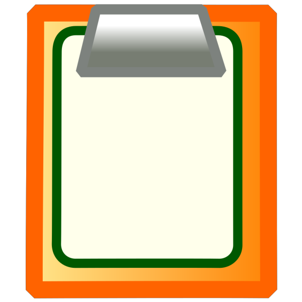 Colorful Clipboard PNG Clip art