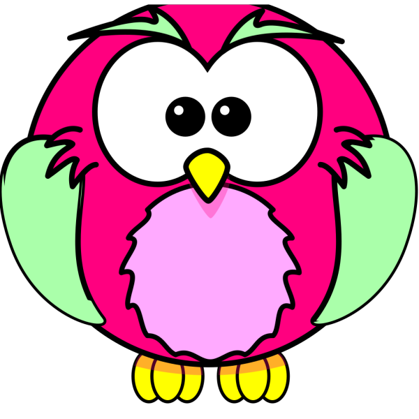 Pink Owl Olivia Birthday 3 PNG Clip art