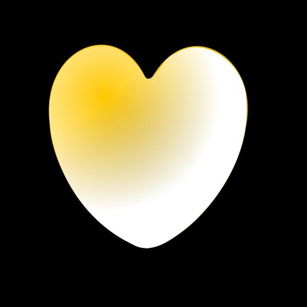 Heart Of Gold PNG Clip art