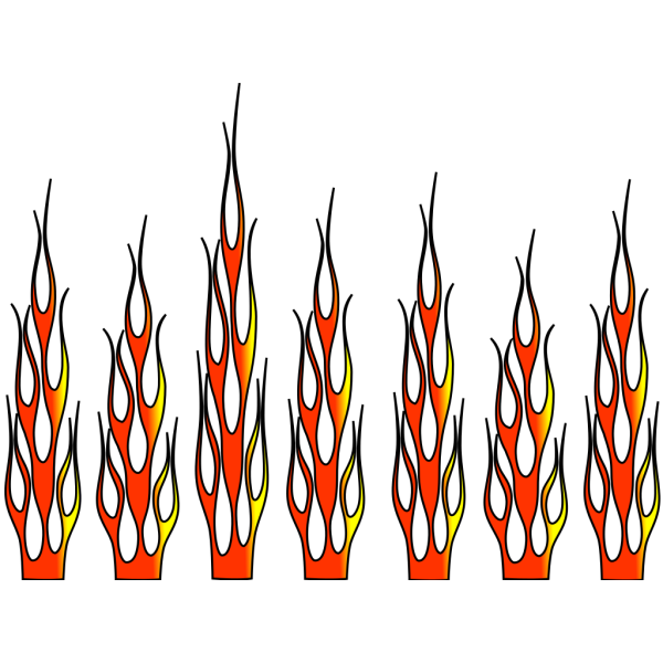 Racing Flame--6+ Color PNG Clip art