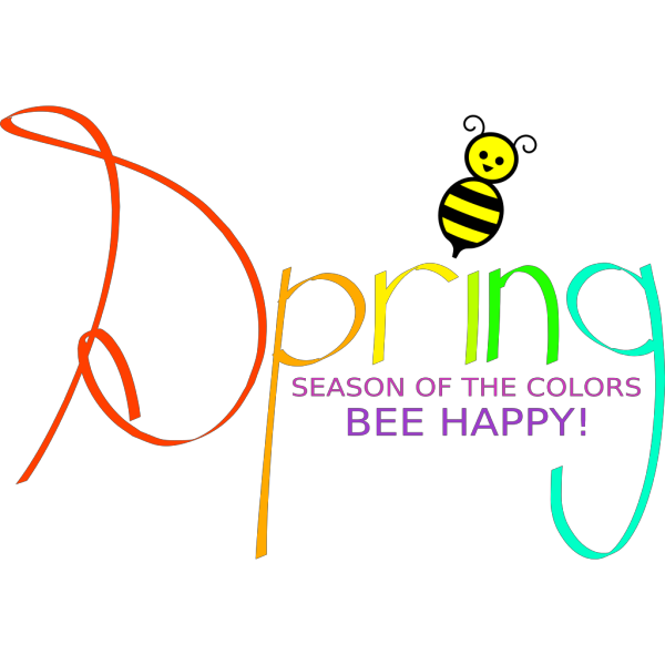 Spring With Bee PNG images
