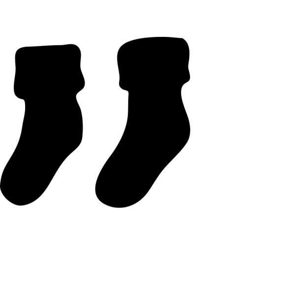 Black Socks PNG Clip art