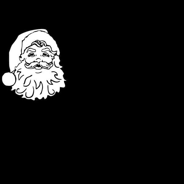 Santa No Color PNG Clip art