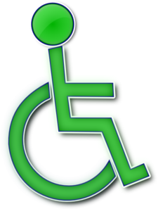 Handicap Symbol Different Colors PNG Clip art