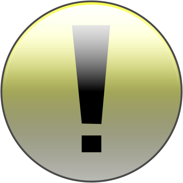 Attention Yellow PNG Clip art