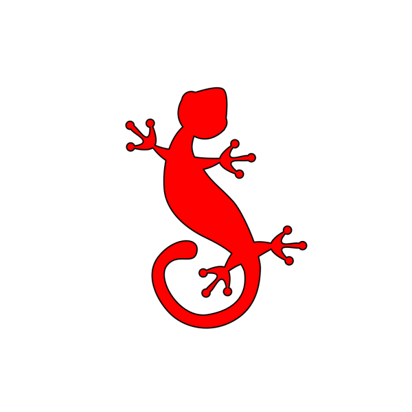 Gecko Red PNG Clip art