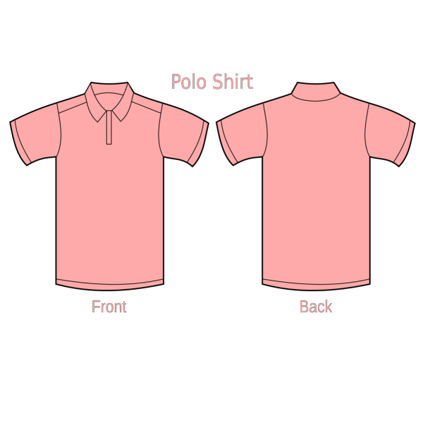 Polo Shirt Peach PNG Clip art